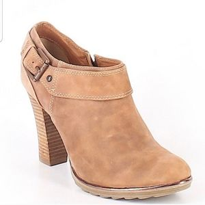 Sofft Ankle Boots Booties Women's 9.5 Tan Leather